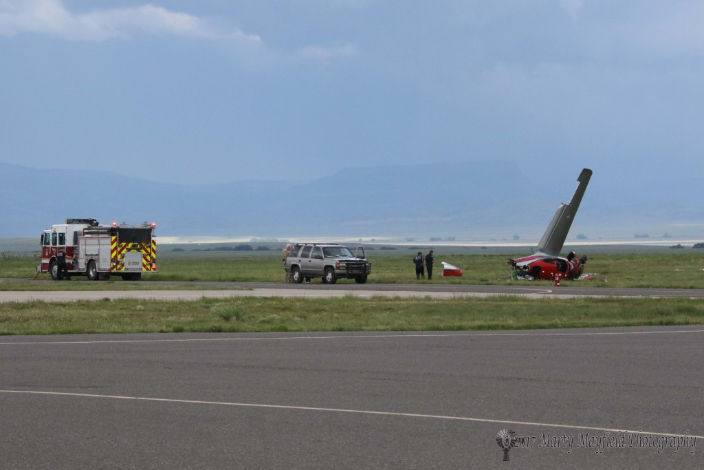 Raton Fire and Emergency Services responded to an airplane crash at Raton Crews Field Airport at 4:17 p.m. Thursday afternoon