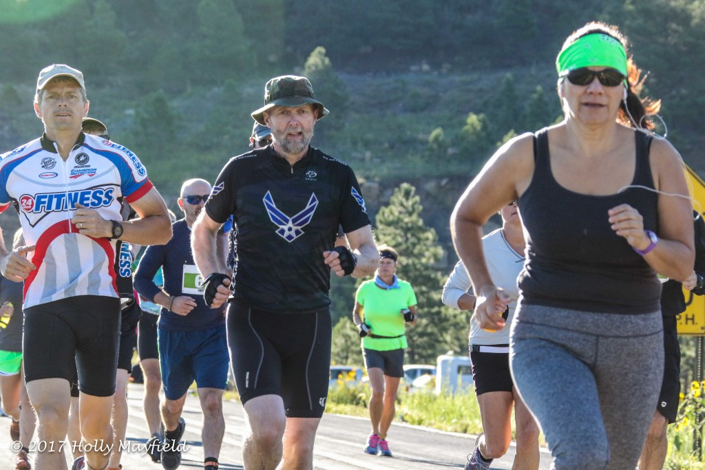 The race included several local runners including Ted Kamp, Bob McIvor and Michelle Trujillo