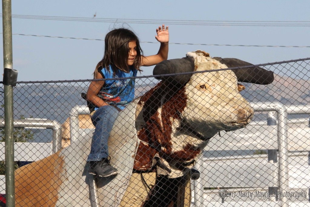 The kids enjoyed the mechanical bull again this year at the 3rd Annual Gate City Music Festival