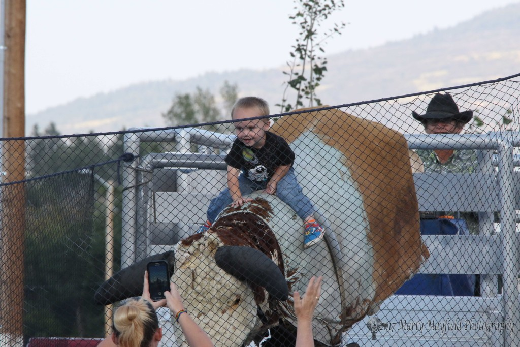 Young and younger enjoyed the mechanical bull riding at the 2017 Gate City Music Festival