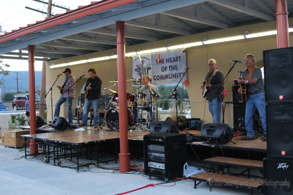 Colfax Reunion, one of the local bands to perform at the 2017 Gate City Music Festival held in downtown Raton on Historic First Street. The band was chosen for the free street dance Saturday evening and they drew a big crowd for the street dance.