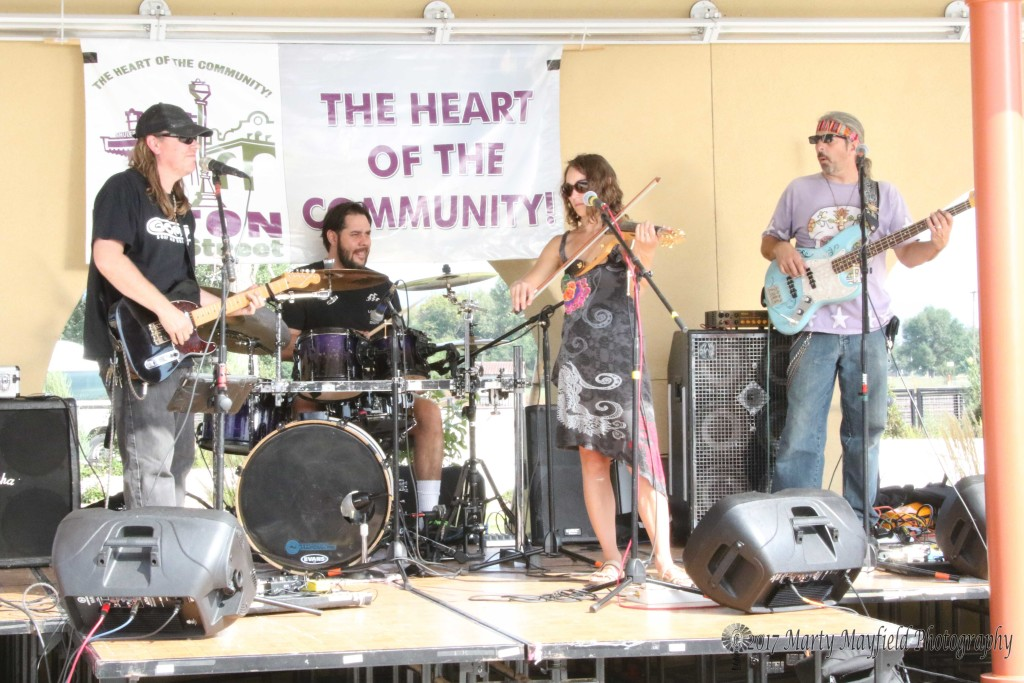 Sunday afternoon the Dewey Paul band took the stage for the 3rd Annual Gate City Music Festival.