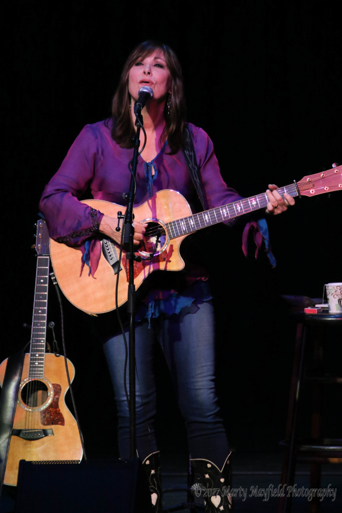 Headliner Suzy Bogguss on the Historic Shuler Theater Stage Sunday evening.