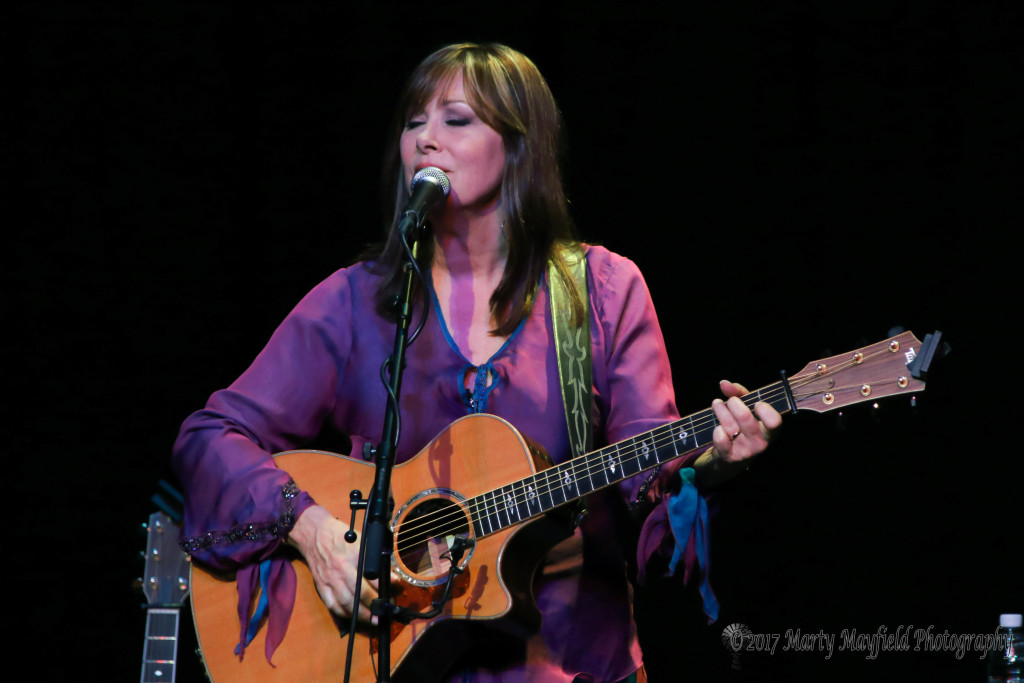 Suzy Bogguss performed several songs on the Shuler Stage but the one thing that made the evening was how she interacted with the crowd during the show.