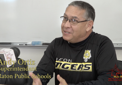 Andy Ortiz Raton Public Schools Superintendent sees hope for the Raton Schools.
