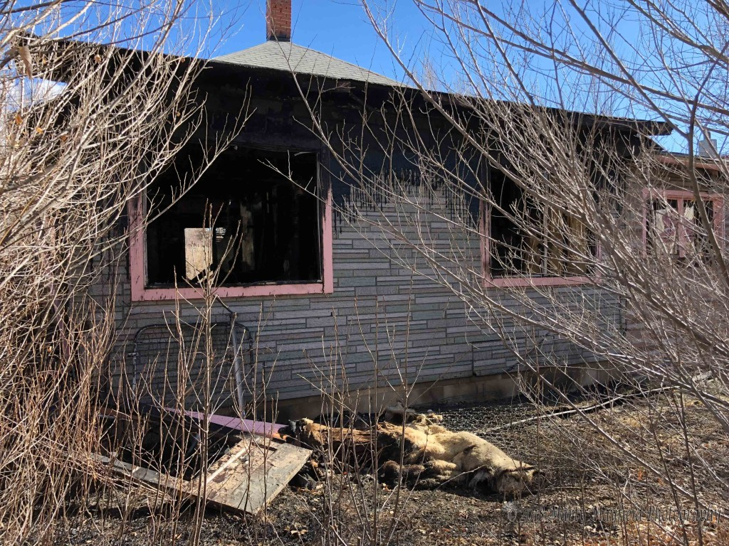 This house on 801 N 4th St caught fire Wednesday evening and is considered to be a total loss.
