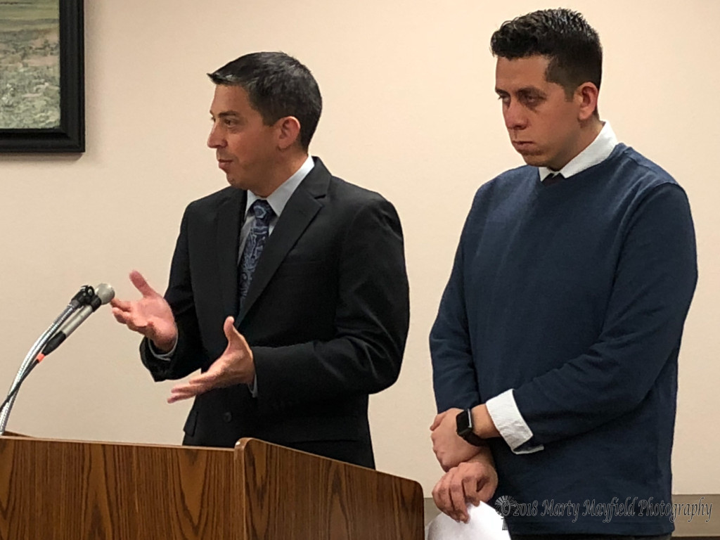 Ben Martinez and Luis Gomez presented the audit report to commissioners noting it only took a week as opposed to two weeks in previous years. The report gave Raton a good grade for this year's audit.