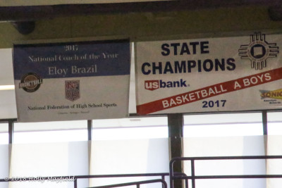 The Banner that will now hang in the Maxwell Gym in honor of Coach Eloy Brazil.