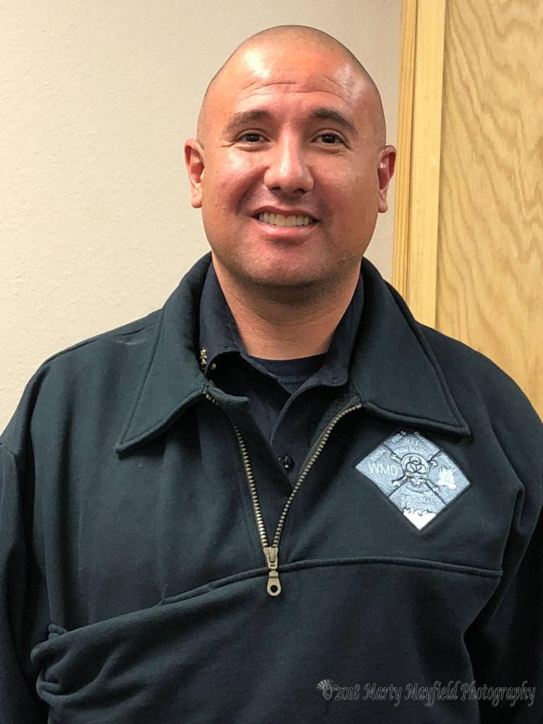 Raton Fire and Emergency Services new fire chief Chris Espinoza. Chris began his career in 1996 and joint Raton Fire in 1998 where he has performed a multitude of duties.