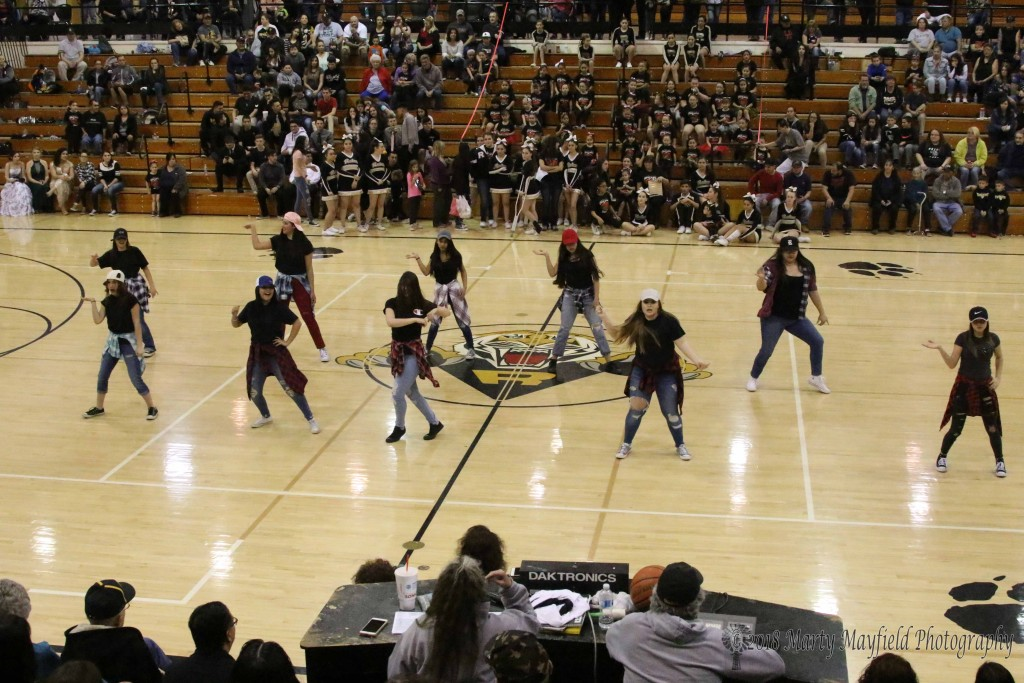 The TigerCats Dance Team performed during the halftime of the girls game Saturday evening as part of the 2018 TigerFest activities.