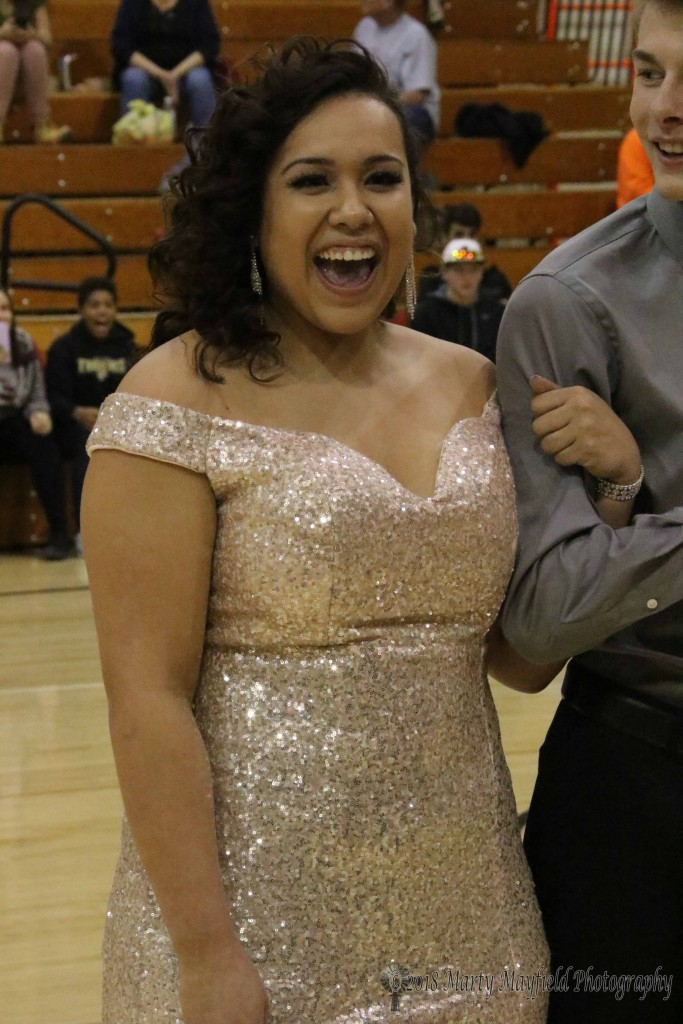 The emotion was there as Amanda Ramirez hears her name called for TigerFest 2018 queen.