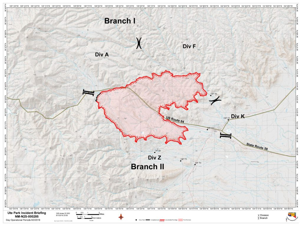 Philmont New Mexico Map.Ute Park Fire Sunday Update Krtn Enchanted Air Radio