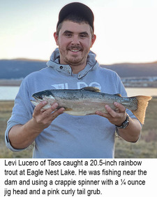 New Mexico fishing and stocking reports for November 1311/13